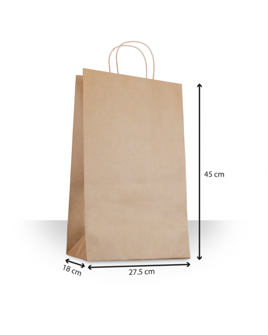 Bolsa de papel con asas DESp 1-6 sin imp m