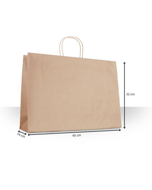 Bolsas de papel con asa Ropa sin imp m