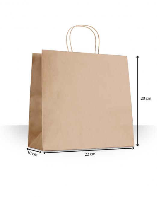 Bolsas de papel con asas Accesorios sin imp m