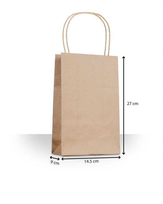 Bolsas de papel con asas mini sin imp m