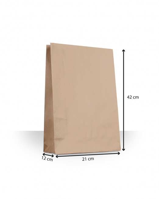 Bolsas de papel sin asas mediana sin imp m